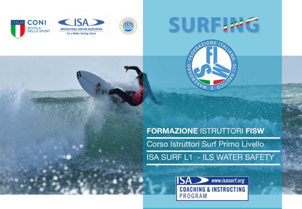 ISCRIZIONI CORSO ISTRUTTORI ISA/FISW/ILS SURF L1 – SUP – BARI – 20-23 APRILE 2020