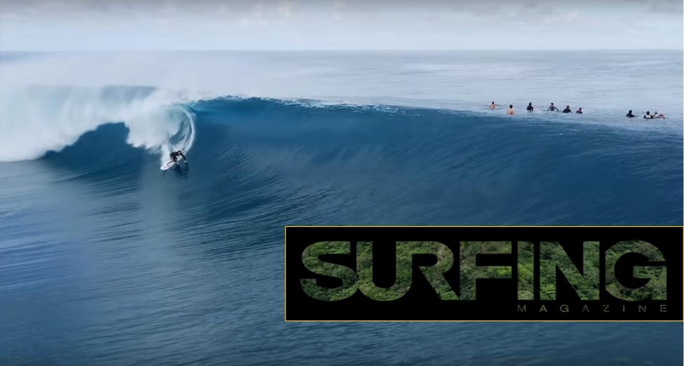 Video - Teahupo'o Du  Ciel # surfing