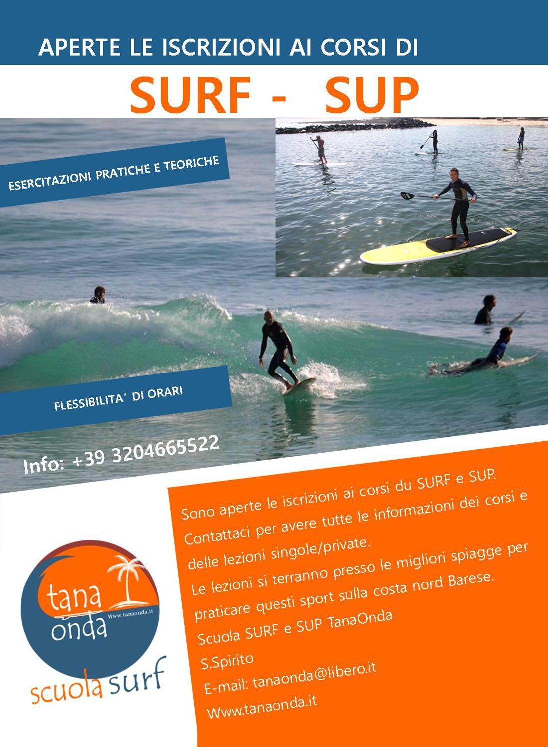 Aperte le iscrizioni ai corsi di SUP e SURF