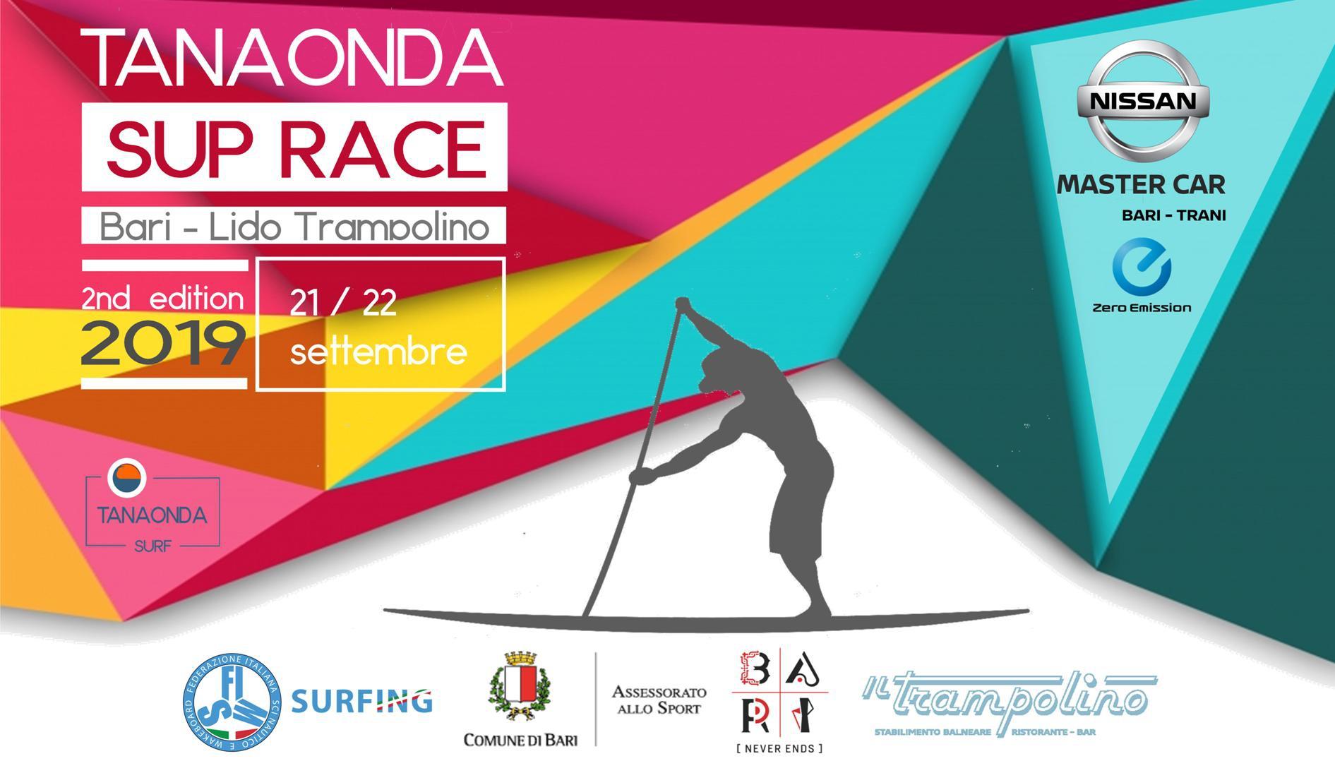 TANAONDA SUP RACE Bari 2019  2nd - 21/22 Settembre - Lido Il Trampolino