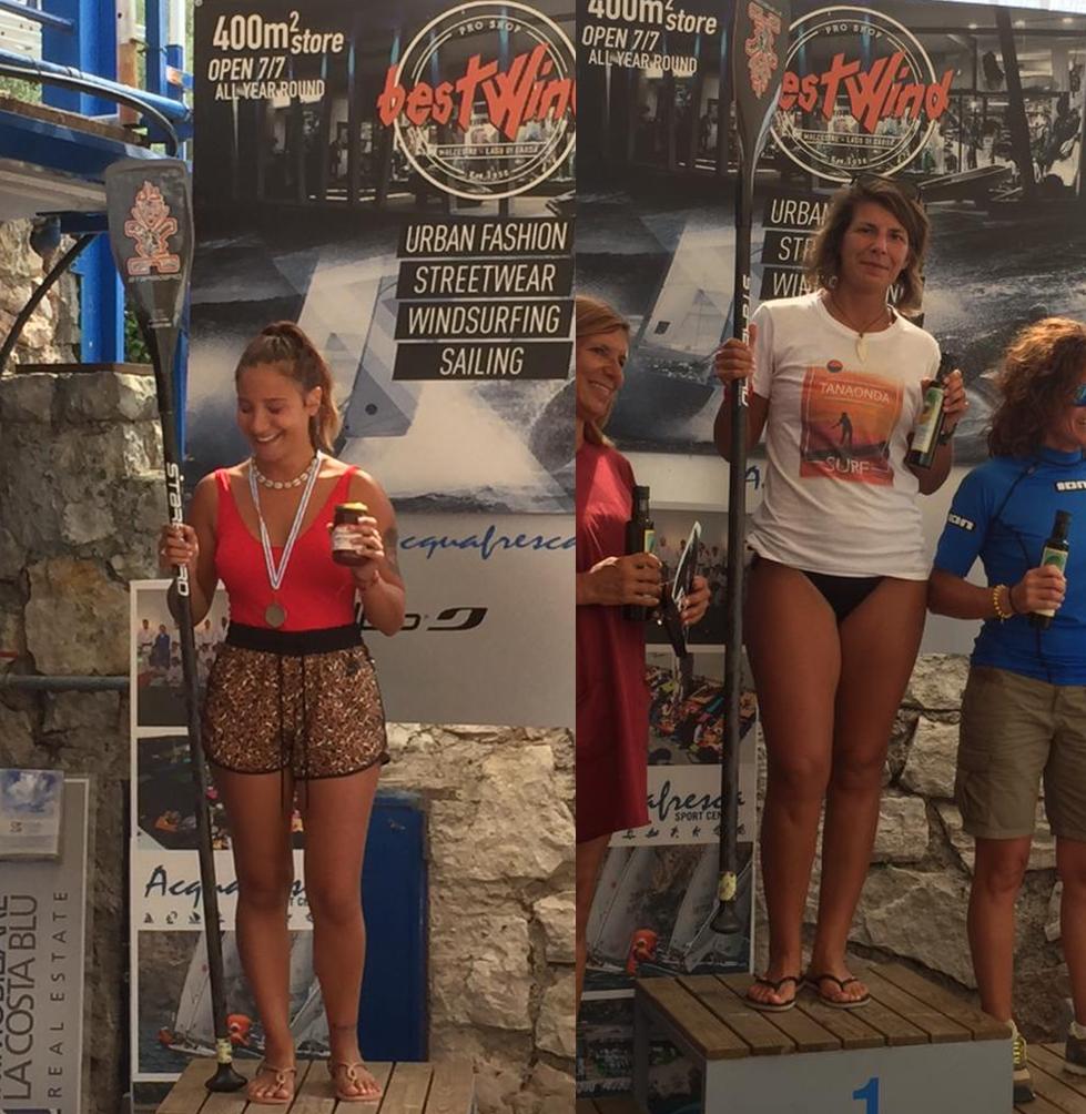 Primi posti per le Atlete dell'Asd Tanaonda Surf al Trofeo del Garda SUP Race 23/25 Settembre'19