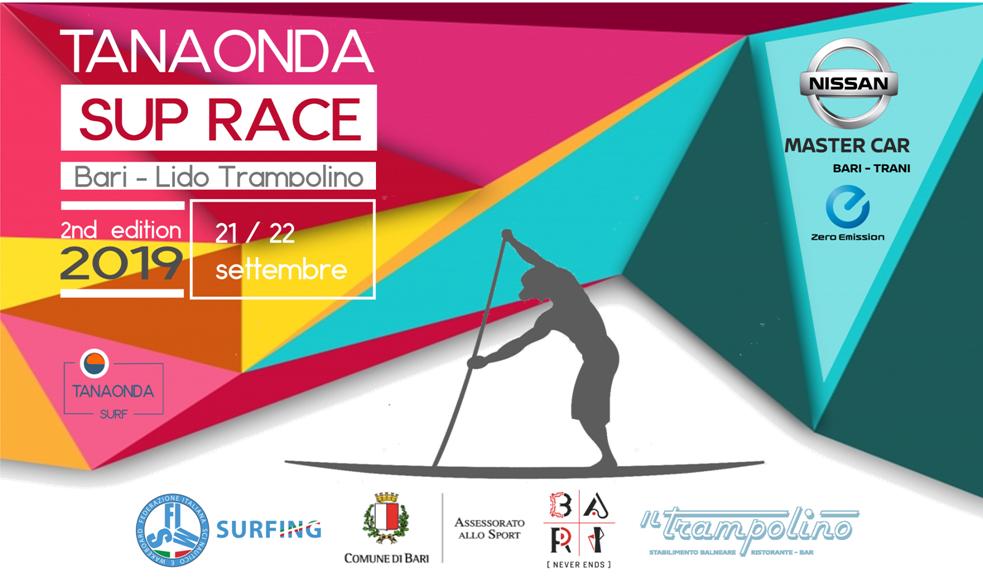 TANAONDA SUP Race 2019 – 2and  Bari 21/22 Settembre # Comunicato stampa