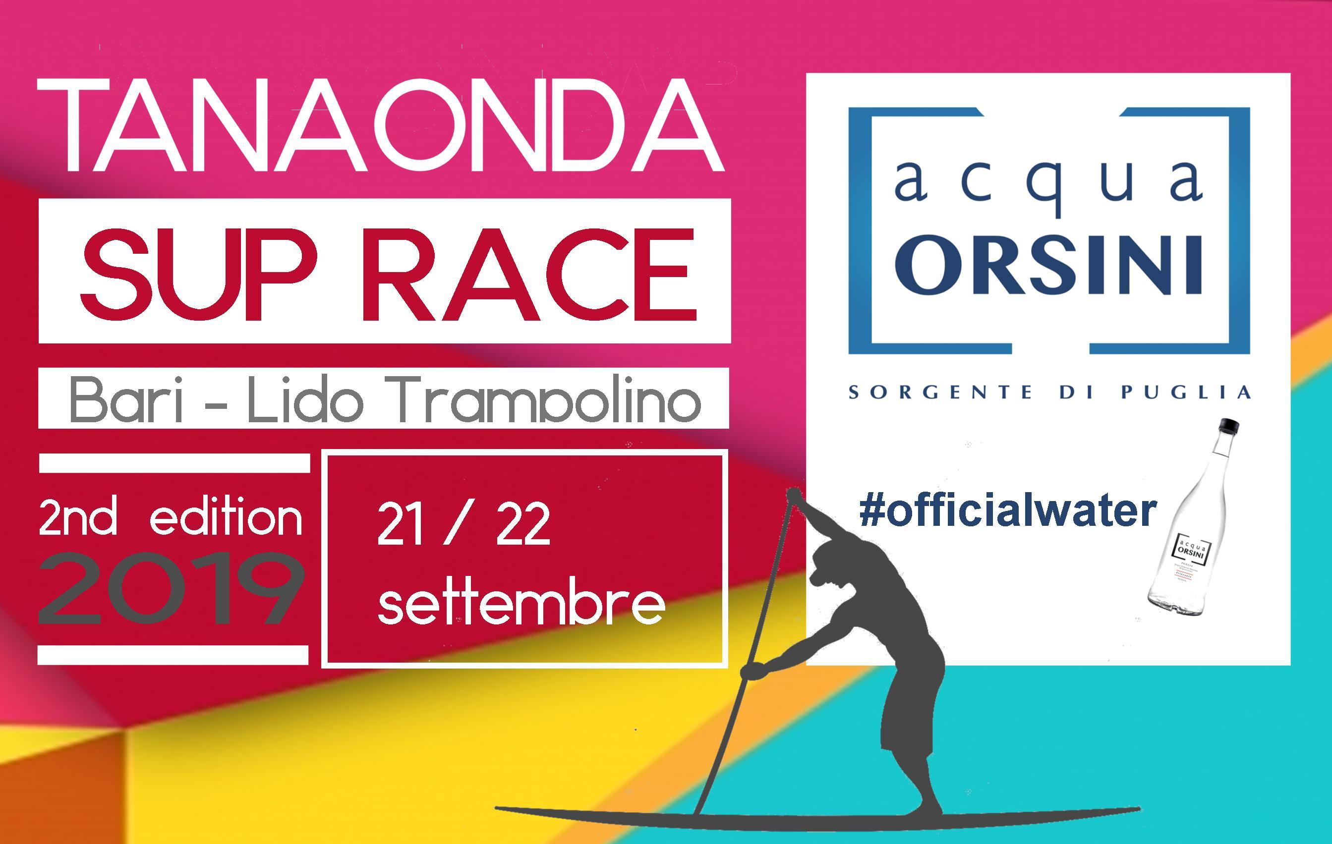 Acqua Orsini #officialwater della SUP Race Tanaonda 2019