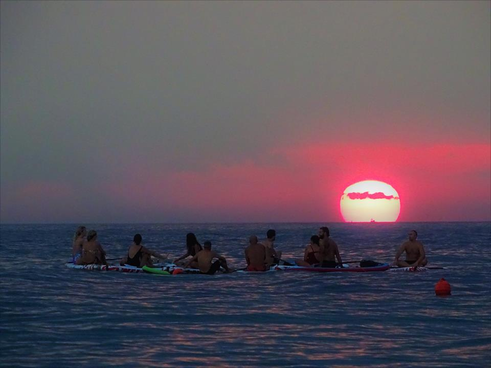 paddle surf sup tramonto