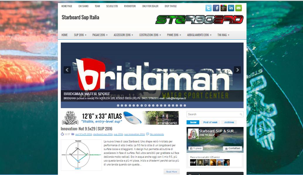 Starboard SUP Italian Blog