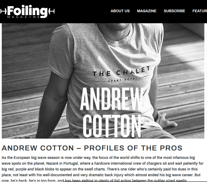 Andrew Cotton Foiling Magazine