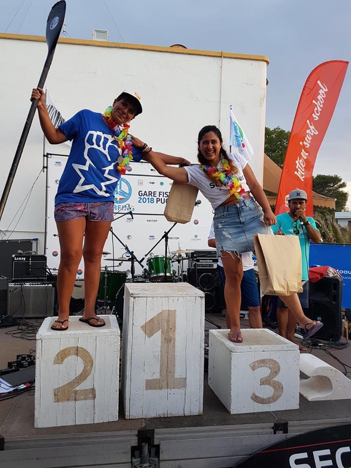 3oceani bic battle 2018 podio femminile promozionale sup gonfiabile